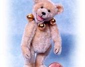 Judy Jingles - Miniature Teddy Bear Kit - Pattern - by Emily Farmer