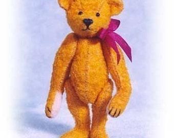 Old Worn Bear - Miniature Teddy Bear Kit - Pattern - by Emily Farmer
