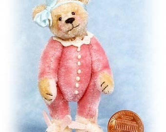 Sugar Bear - Miniature Teddy Bear Kit - Pattern - by Emily Farmer