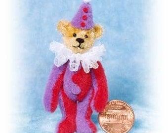 HALF PRICE - Sweet Clown Bear - Miniature Teddy Bear Kit - Pattern - by Emily Farmer - Last Ones