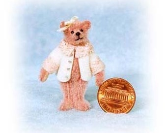 Little Brenda Bear Miniature Teddy Bear Kit - Pattern - by Emily Farmer