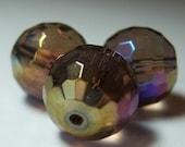 Faceted Czech Glass Beads....5 beads