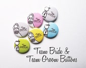 10 pairs Team Bride and Team Groom Buttons