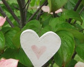 Ceramic Heart Ornament with Touch of Sparkle
