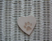 Little Paws Personalized Ceramic Heart Ornament