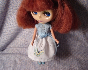 Blythe Hand Embroidered Lace and Eyelet Dress REDUCED