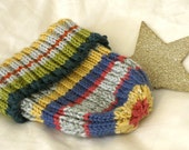 Cashmere and Merino Wool Striped Toddler Knit Cap