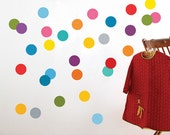 Confetti / Colored Dots Fabric Wall Decal