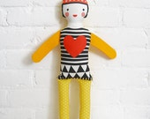 Organic Cotton and Wool Doll: Queen of Hearts
