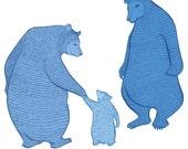 Magic Blueberry Bears - Wall art