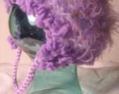 Super Soft Lavendar Couture Earflap Infant Hat