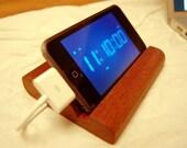 iPod Touch Stand Sleek Mahogany