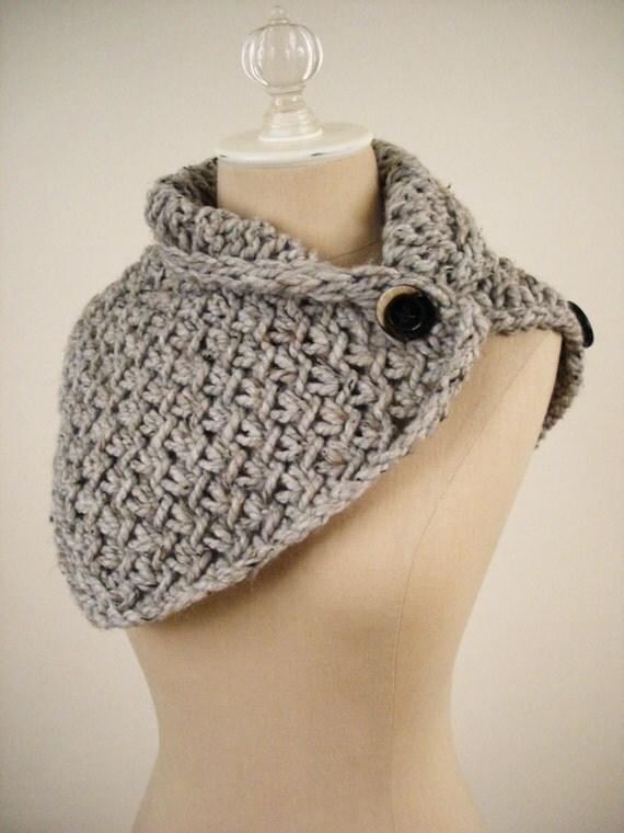 Phydeaux Twist Cowl \/ Shoulder Warmer - Grey Tweeds