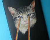 laser-eye kitten pocket journal