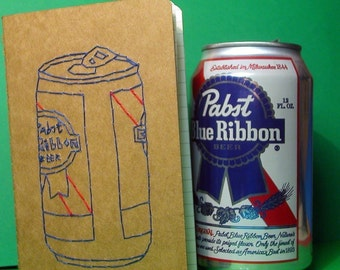 embroidered PBR pocket journal