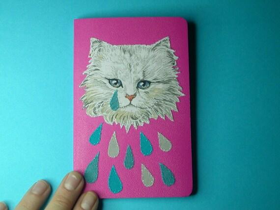 weeping kitten pocket notebook