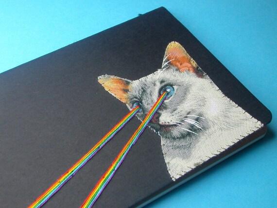 laser-eye kitten pocket journal