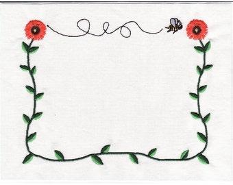 Sunflower quilt label