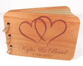 Personalized Wedding Guest Book Photo Album - Double Intertwined Hearts