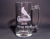 Personalized Beer Mugs Beer Steins - Groomsman Gifts - SET OF 7