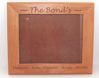 Custom Engraved Wood Picture Frame 8x10