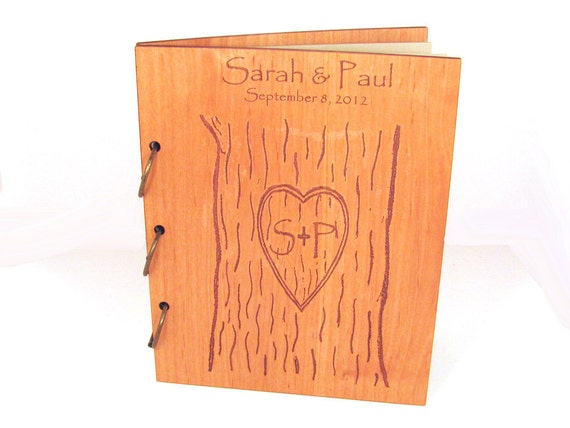 Reserved Listing for Carly - Wooden Wedding Guest Book Photo Album LARGE SIZE