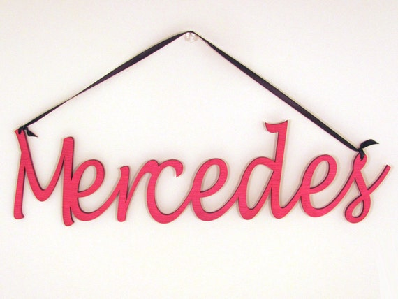 Personalized Wood Wall Word Sign - Choose Your Name Word and Color