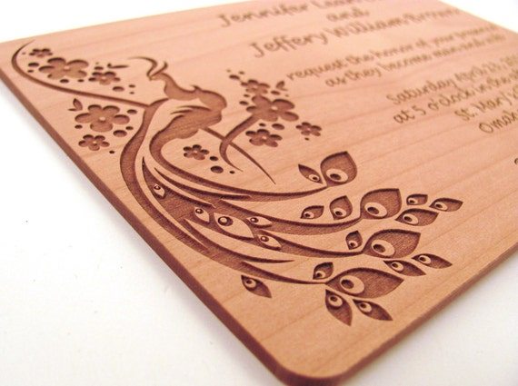 like this item - Wood Wedding Invitations