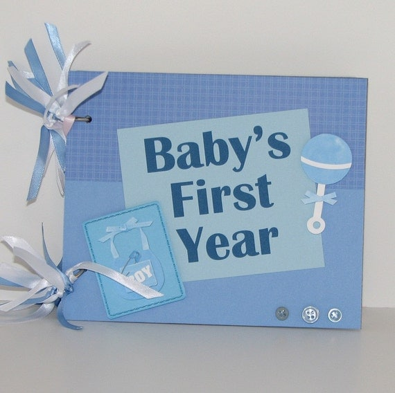 Baby Boy's First Year Scrapbook Photo Album Calendar