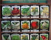 Viintage 1920's Seed Company Packages - Antique Seed Packet Lot - garden farm variety - Papertrey - Halloween Fall