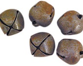 Primitive Vintage Looking Rusty Craft Jingle Bells in 6mm lot-Use for December Daily, Scrapbooking and Crafts-Christmas, Valentines