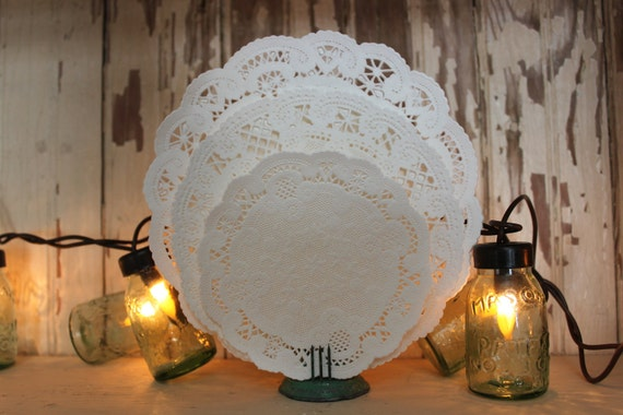 """SALE - Set of 100 (4"""", 5"""", 6"""") Assorted Bulk Lot of Paper Lace Doilies  (Great for Scrapbooking & Crafting)"""