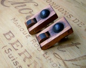 Recycled PIANO Disc Earrings WOODEN Jewelry
