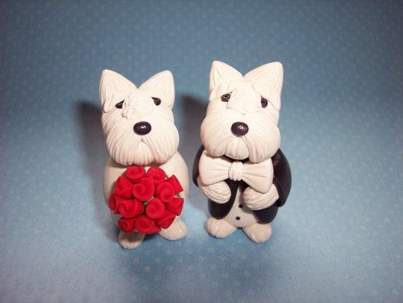 Westie Dog Wedding Cake Topper