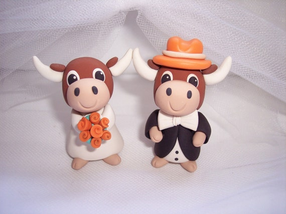 RUSH ORDER Texas Longhorns Wedding Cake Topper