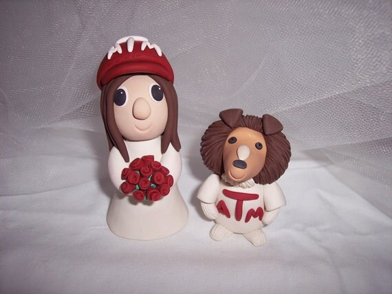 Custom Order Texas A and M and LSU Wedding Cake Topper