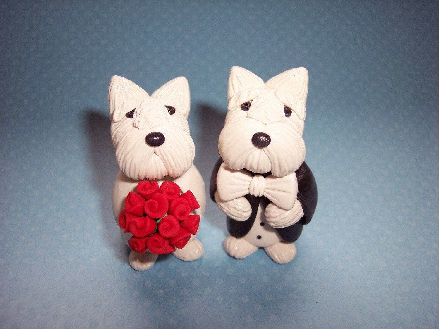 etsy wedding cake topper dog westie wedding cake topper 14051