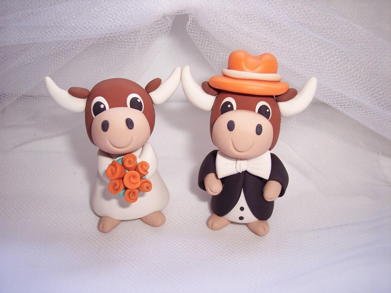 Rush Order Texas Longhorns Wedding Cake Topper By Thepinkkoala