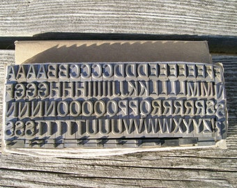 75% Off with Coupon Code SUMMER - Letterpress classic - metal letters and punctuation -  More than 100 Items - Lot 282