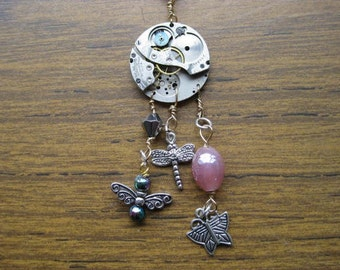 50% Off with Coupon Code NEWYEAR2016 - Steampunk Pendant with Bug Dangles - LOT 503