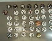perpetual calendar -- custom made -- one inch magnets