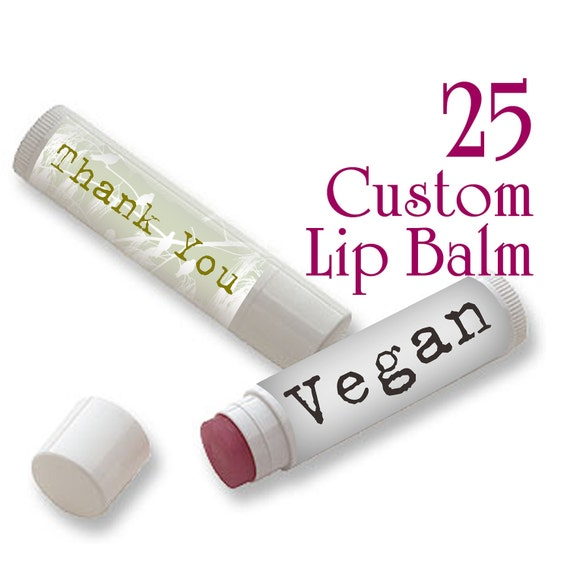 25 Custom Lip Balm - Vegan - Full Color - As many designs as you want!