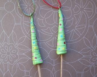 Pair of Skinny Tree Ornaments