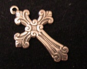 Four Items - Cross, Jewelry Components, Decorative Metal Stampings, Decorative Metal Castings,