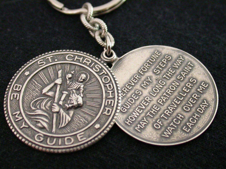 St. Christopher Keychain Groomsmen Gift Wedding Party