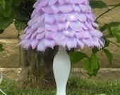 Lilac petals lampshade