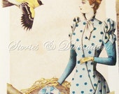 Downton Abbey - Victorian Collage Card