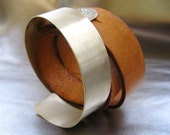 Serling Silver and Leather Bracelet