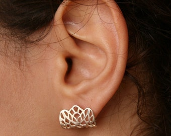 LACE-Sterling Silver Earlobes Earrings
