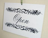OPEN \/ CLOSED Reversible Sign